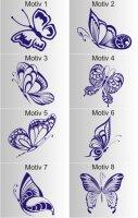 Schmetterling Aufkleber, verschiedene Motive zur Auswahl