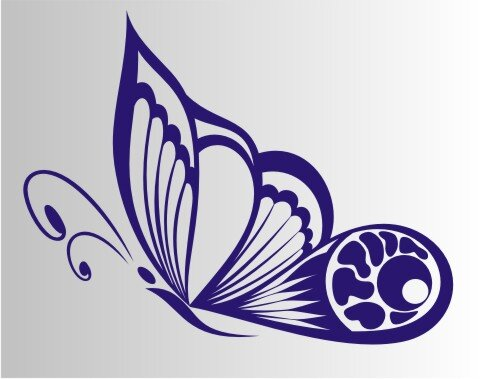 Schmetterling Aufkleber MO02