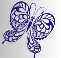 Schmetterling Aufkleber MO04