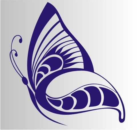 Schmetterling Aufkleber MO07