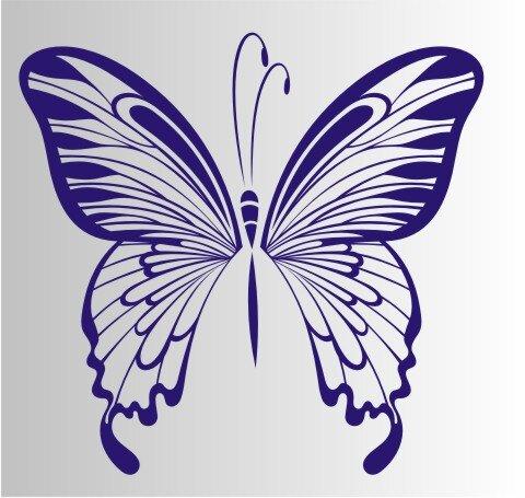 Schmetterling Aufkleber MO08