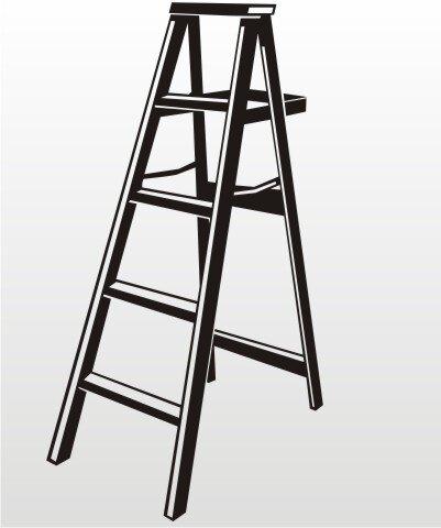 Stehleiter Folien Aufkleber für Auto, Schaufenster, Schilder