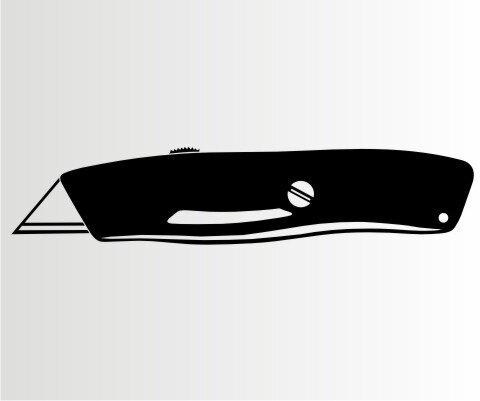 Cuttermesser Aufkleber Folien-Aufkleber für Auto, Schaufenster, Schilder