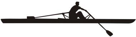 Wandtattoo Rudern, Sport Wandaufkleber Rowing
