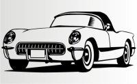 Classic Corvette Aufkleber