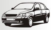 Aufkleber Corsa Sedan