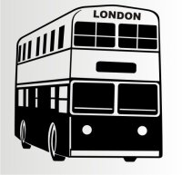 Doppeldeckerbus London Aufkleber