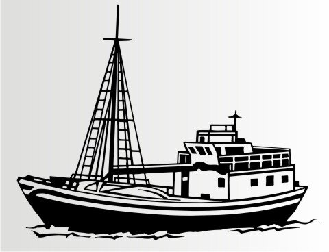 Fisch Trawler Aufkleber