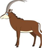Antilope Wandtattoo mit Digitaldruck