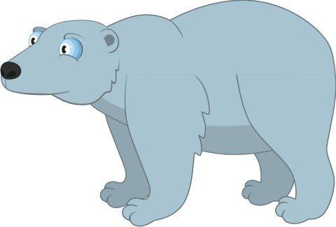 Eisbär Wandtattoo mit Digitaldruck