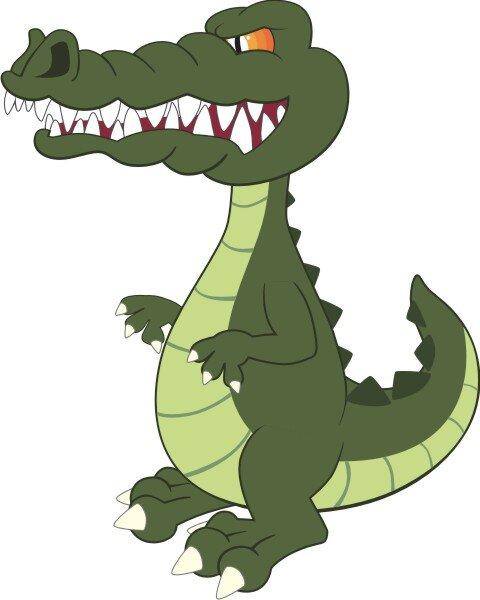 Krokodil Wandtattoo mit Digitaldruck