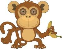 Affe Wandtattoo mit Digitaldruck