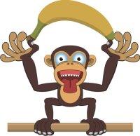Affe Schimpanse Wandtattoo mit Digitaldruck MO02