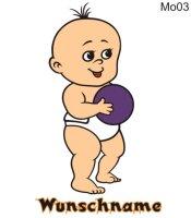 Farbige Babyaufkleber MO03