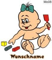 Farbige Babyaufkleber MO08