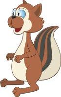 Eichhörnchen Wandtattoo mit Digitaldruck MO02
