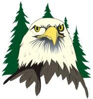 Adler Aufkleber im Digitaldruck MO01