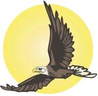 Adler Aufkleber im Digitaldruck MO04