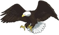 Adler Aufkleber im Digitaldruck MO07