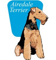 Airedale Terrier Wandtattoo im Digitaldruck