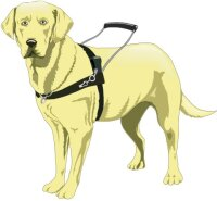 Blindenführhund Wandtattoo im Digitaldruck