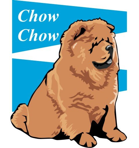 Chow Chow Wandtattoo im Digitaldruck