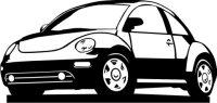 Aufkleber VW Käfer