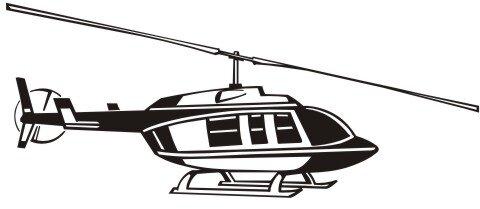 Hubschrauber Aufkleber