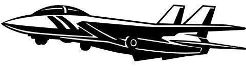 Flugzeug Fighter Aufkleber