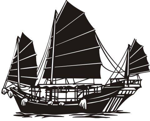 Segelschiff Aufkleber