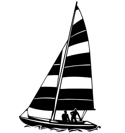 Segelboot Aufkleber MO02