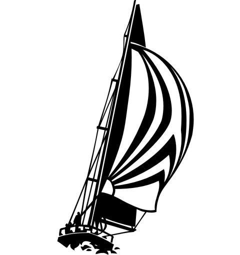 Segelboot Aufkleber MO03