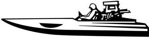 Rennboot Aufkleber MO02