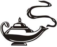 Aladin Wunderlampe Aufkleber