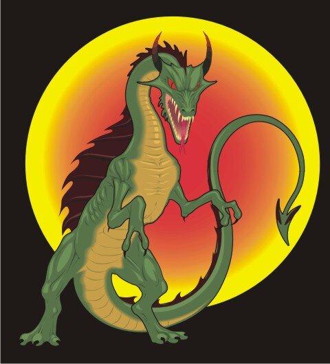 Dragon Aufkleber im Digitaldruck MO03