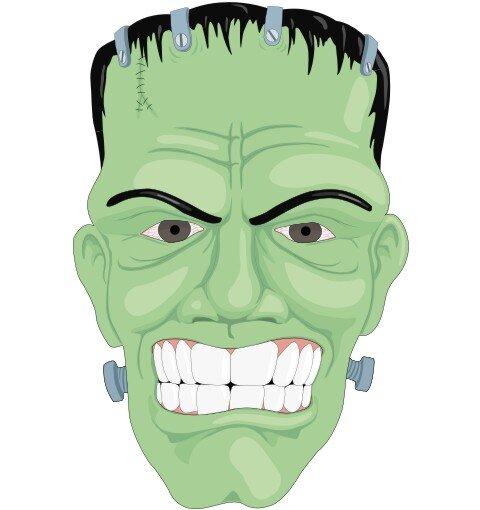 Frankenstein Aufkleber im Digitaldruck