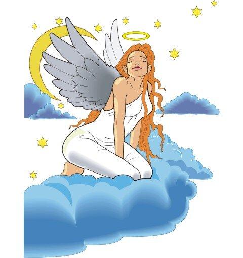 Engel Aufkleber im Digitaldruck