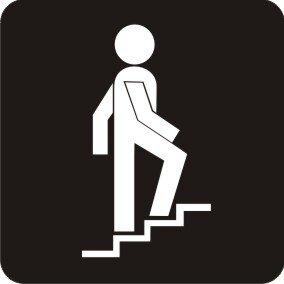 Aufkleber Piktogramm Treppe aufwärts rechts