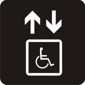 Aufkleber Piktogramm Behindertengerechter Aufzug