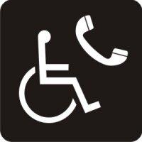 Aufkleber Piktogramm Behindertengerechte Telefonzelle