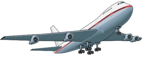 Jetliner Aufkleber Flugzeug im Digitaldruck