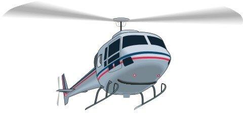 Hubschrauber Aufkleber Helikopter im Digitaldruck