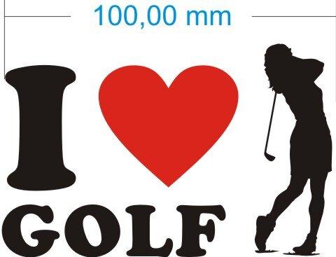 Ich liebe Golf - I love golf Aufkleber