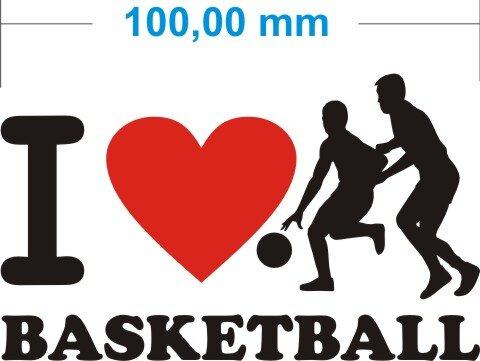 Ich liebe Basketball - I love basketball Aufkleber MO02