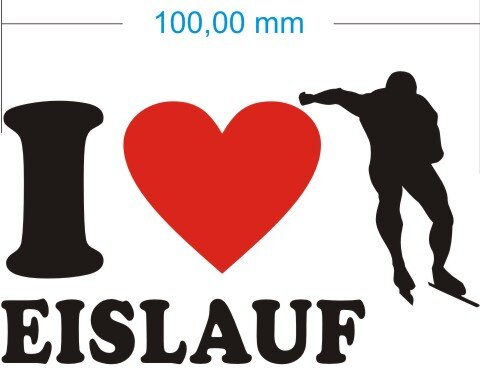 Ich liebe Eislauf - I love eislauf Aufkleber