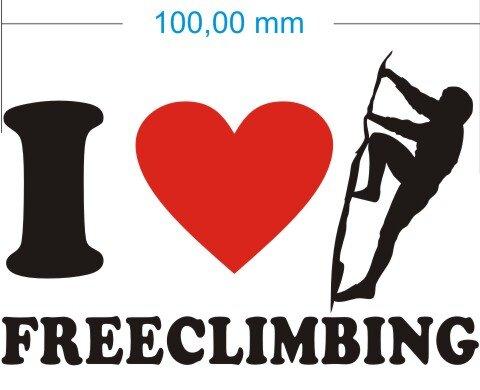 Ich liebe Freeclimbing - I Love Freeclimbing Aufkleber