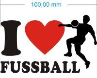 Ich liebe Fussball - I Love Fussball Aufkleber MO02