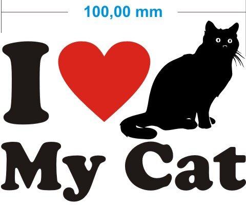 Ich liebe meine Katze - I Love My Cat Aufkleber MO02