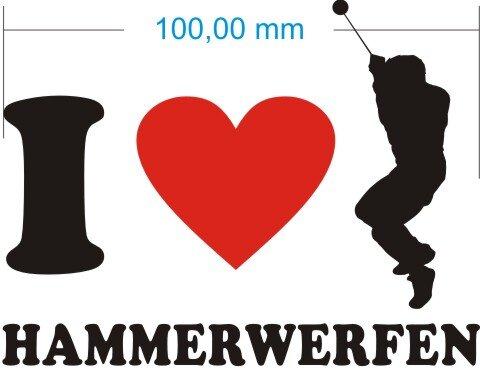Ich liebe Hammerwerfen - I Love Hammerwerfen Aufkleber