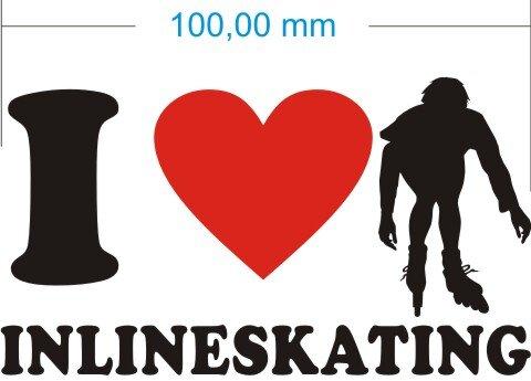 Ich liebe Inlineskating - I Love Inlineskating Aufkleber